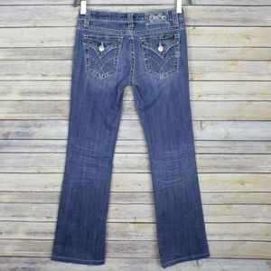 Miss Me Flap Pocket Thick Stitch Boot Cut Jeans 28